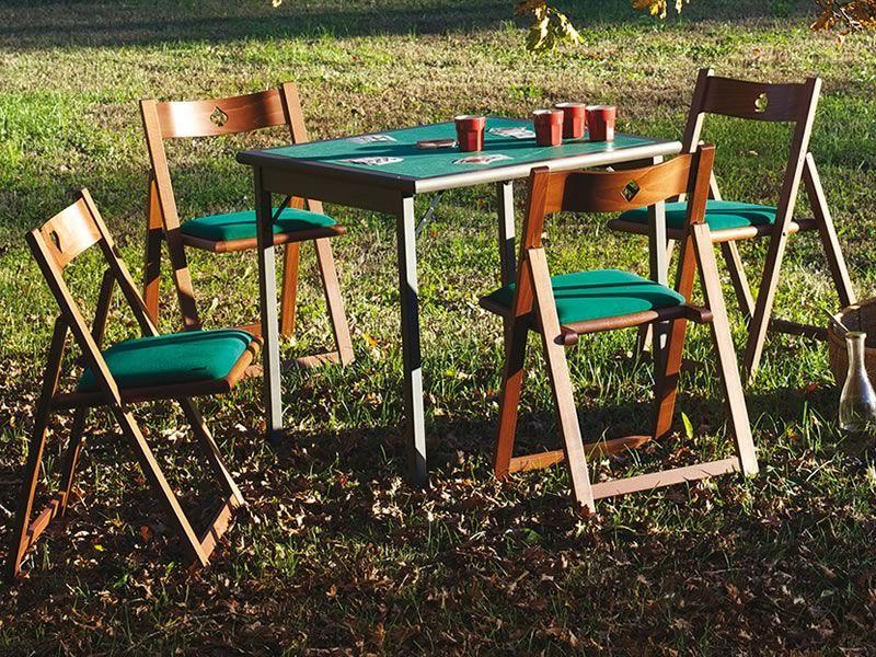 Torneo gioco set da gioco tavolo da gioco con panno verde e 4 sedie sediarreda - Tavoli da gioco carte pieghevoli ...