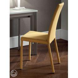 forest promo chaise domitalia enti rement recouverte en tissu moutarde sediarreda. Black Bedroom Furniture Sets. Home Design Ideas