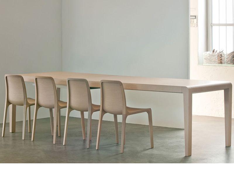 Exteso tavolo pedrali in legno 180x90 cm allungabile diverse finiture disponibili sediarreda - Tavolo con sedie diverse ...