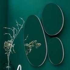 Drop - Composizione di specchi rotondi, disponibile anche con luce LED