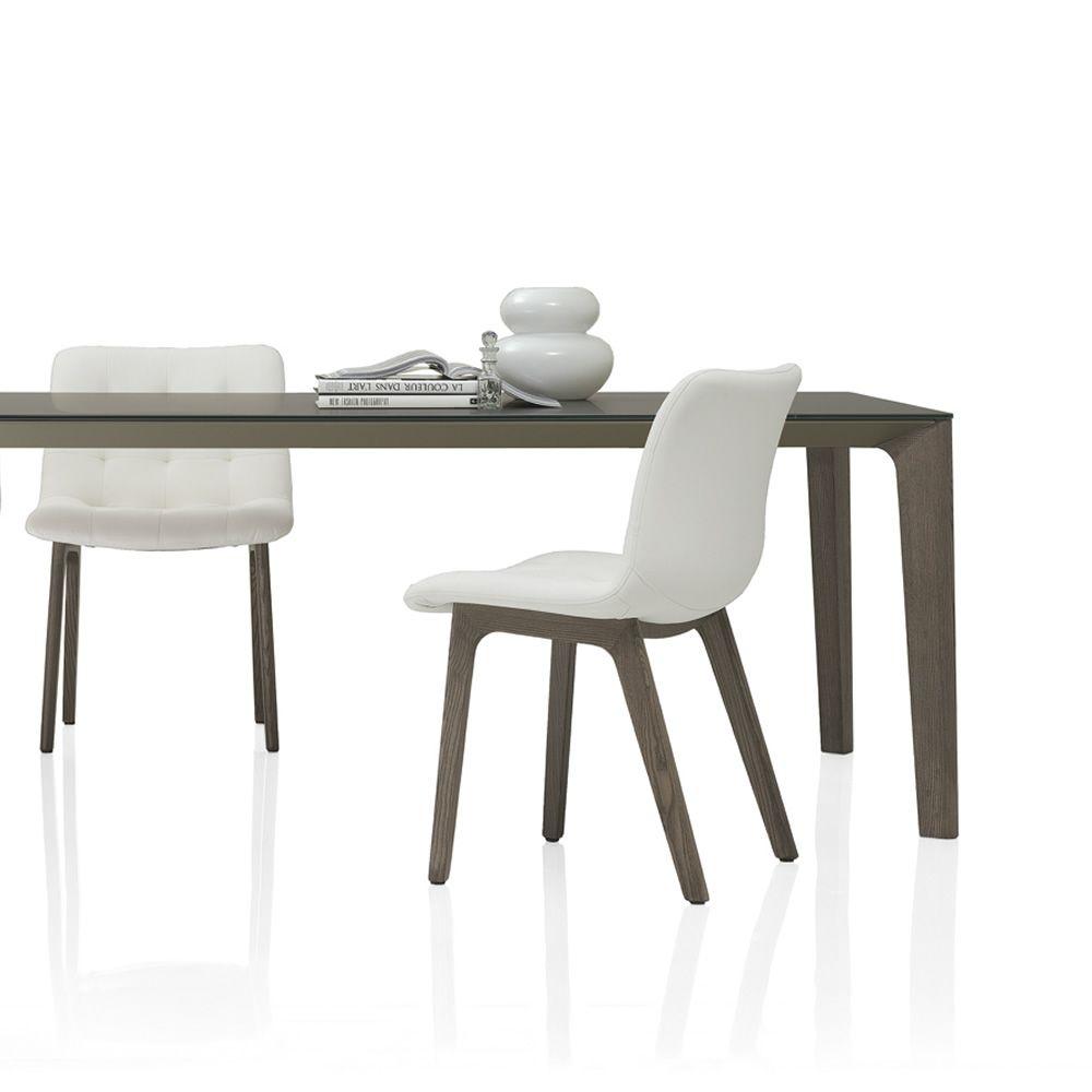 kuga wood gepolsterter stuhl bontempi casa aus holz mit verschiedenen bez gen verf gbar. Black Bedroom Furniture Sets. Home Design Ideas