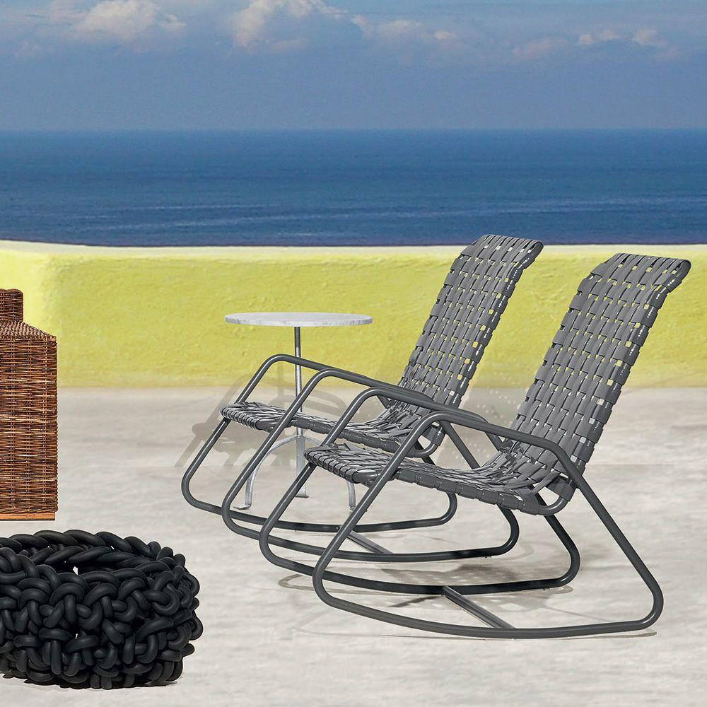 inout 809 f fauteuil bascule gervasoni en aluminium avec assise en pvc aussi pour le. Black Bedroom Furniture Sets. Home Design Ideas