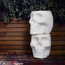 Mexico - Skull shaped Qeeboo sidetable - stool, in polyethylene, heigh 45 cm, stackable, also for the garden