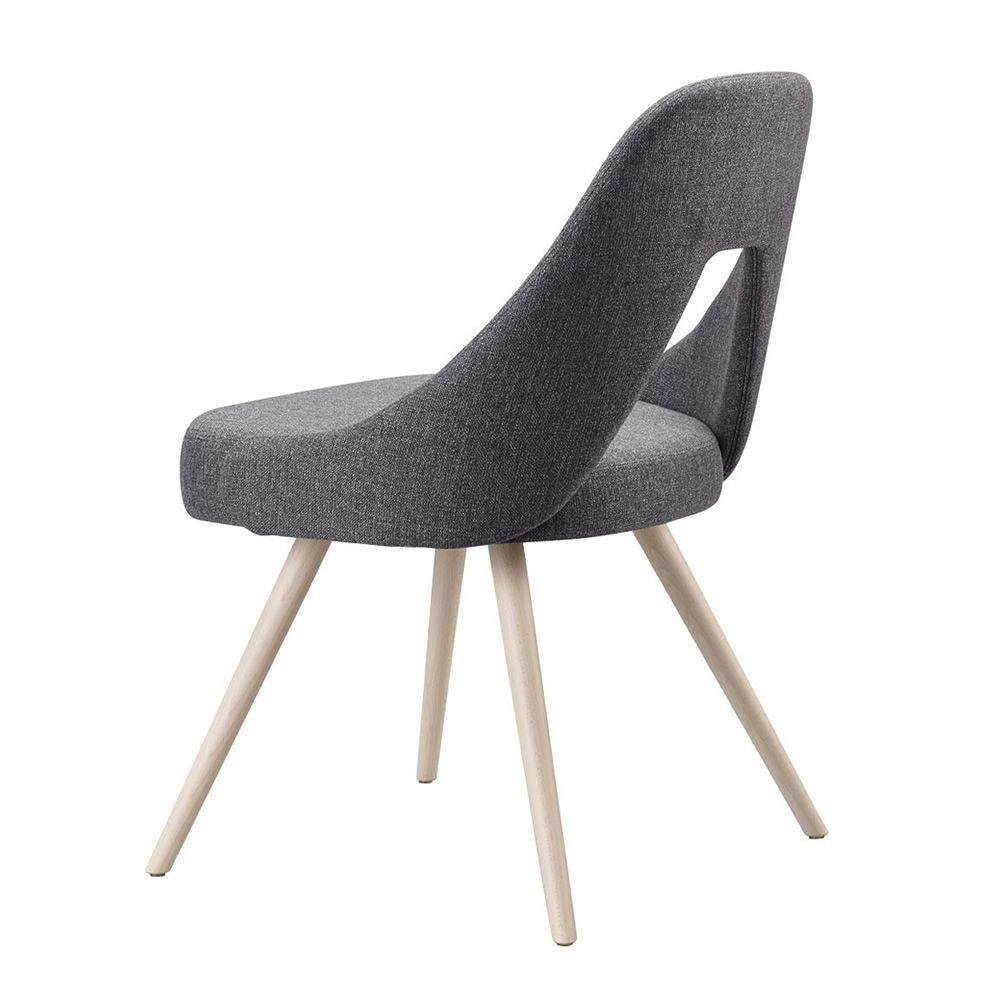 Me 2804 sedia in legno seduta e schienale imbottiti for Sedia wrap