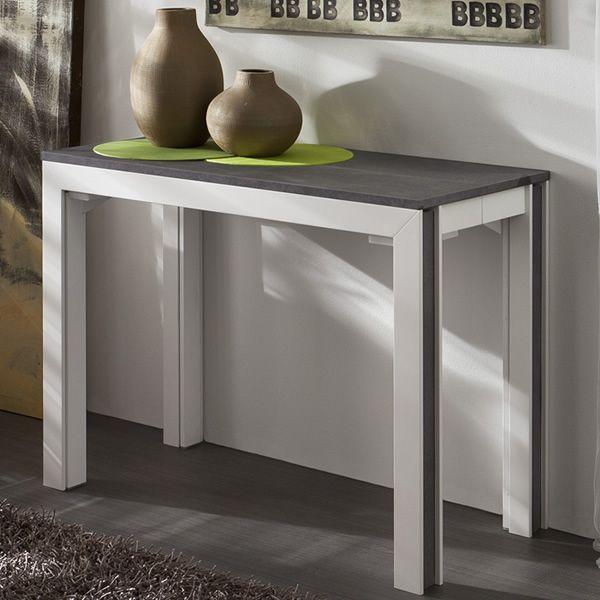 Pa400 tavolo consolle allungabile in legno piano 50x100 cm in diverse finiture sediarreda - Tavolo consolle allungabile con sedie ...
