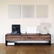 Nordic-TV - Mobile porta TV Ethnicraft in legno, diverse finiture e misure disponibili