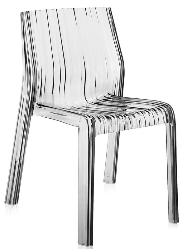 Frilly - Sedia Kartell di design, in policarbonato, impilabile ...