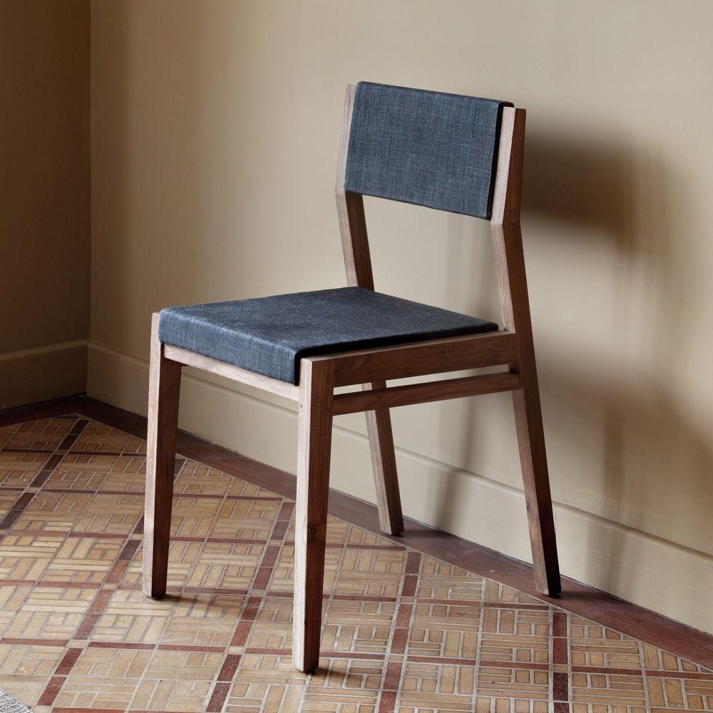 ex1 stuhl ethnicraft aus teakholz sitz und r ckenlehne mit stoff bezogen sediarreda. Black Bedroom Furniture Sets. Home Design Ideas