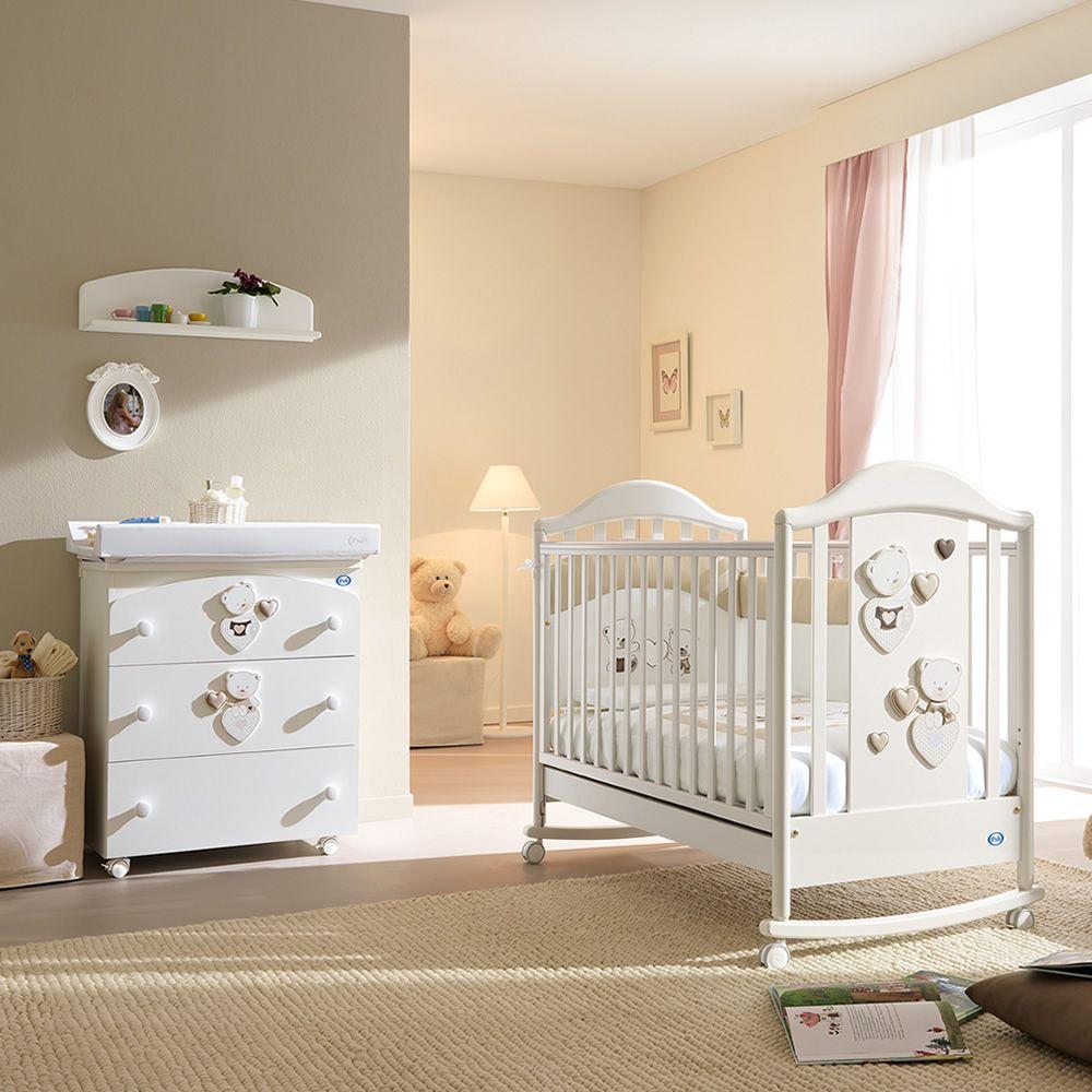 C line baby lit b b pali en bois avec tiroir sommier - Lit bebe combine table a langer ...