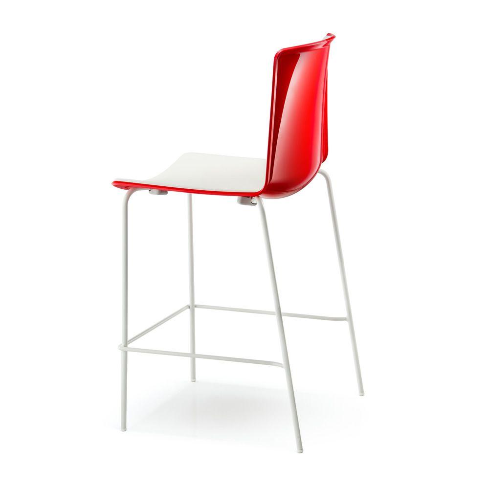 tweet 892 pedrali hocker aus metall und polypropylen stapelbarer sitzh he 65 oder 75 cm. Black Bedroom Furniture Sets. Home Design Ideas