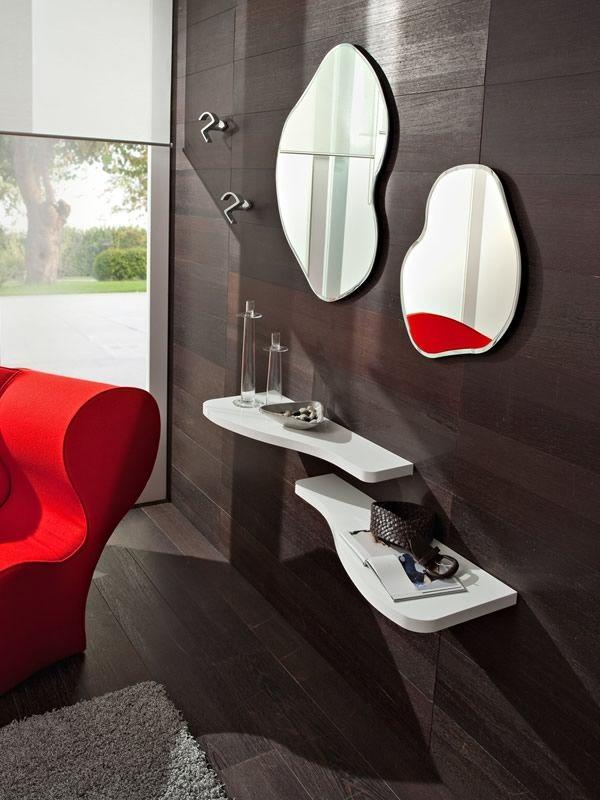 Pa305 ingresso moderno completo di mensole specchi e - Mobili ingresso calligaris ...