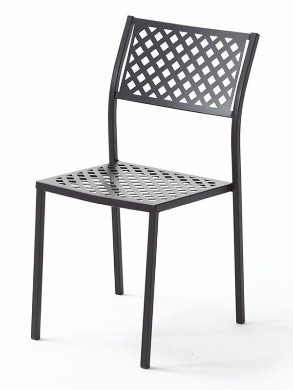 Rig17 silla m talica apilable para jard n sediarreda - Silla metalica apilable ...