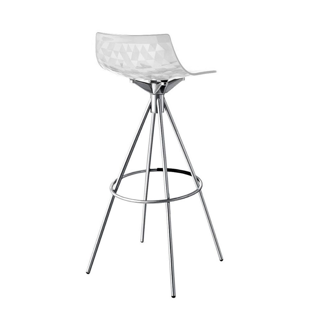 cb1049 ice tabouret connubia calligaris en m tal et san hauteur assise 65 ou 80 cm. Black Bedroom Furniture Sets. Home Design Ideas