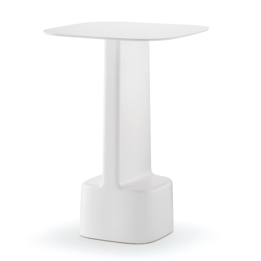 Serif 861 f r bars und restaurants hoher tisch f r bars for Weisser tisch mit dunkler platte