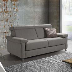 Oleandro - Divano a 3 posti o 3 posti XL, completamente sfoderabile, diversi rivestimenti e colori disponibili, poggiatesta reclinabili, anche divano letto