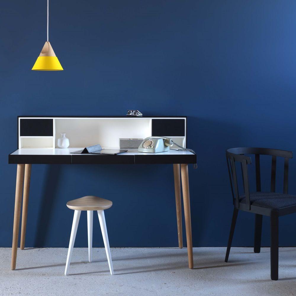 Bardino | Writing desk in wood, black/white version