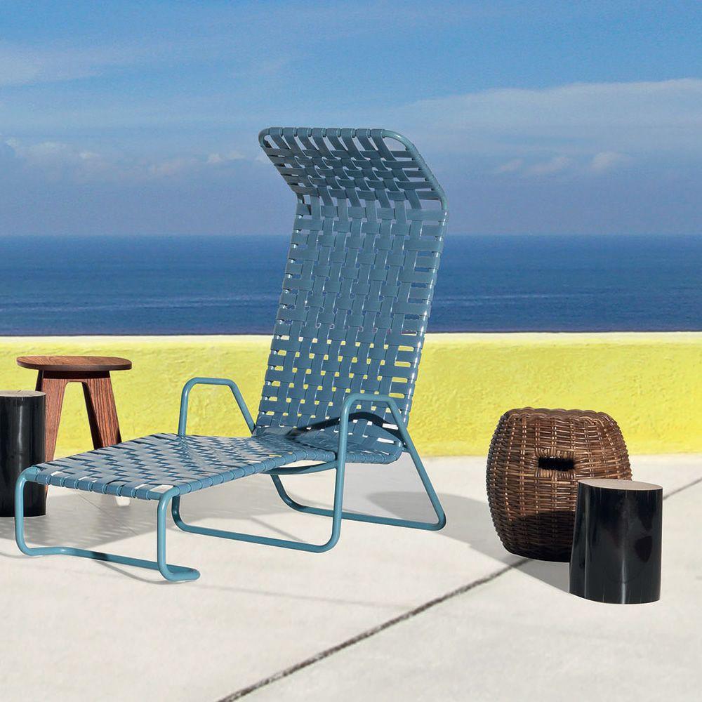 Inout 881 f chaise longue gervasoni en aluminium avec assise en pvc pour le jardin sediarreda - Chaise longue en anglais ...