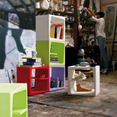 Quby - Modulo libreria di design B-Line, in polietilene, disponibile in vari colori