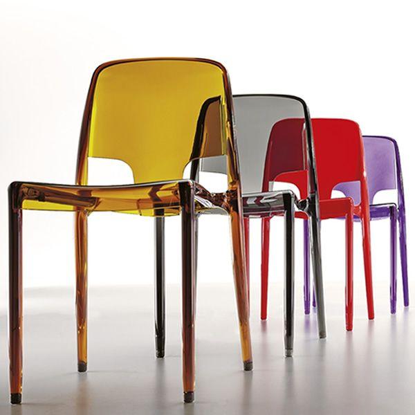 Margot chaise infiniti en polycarbonate empilable en - Chaise plastique design ...