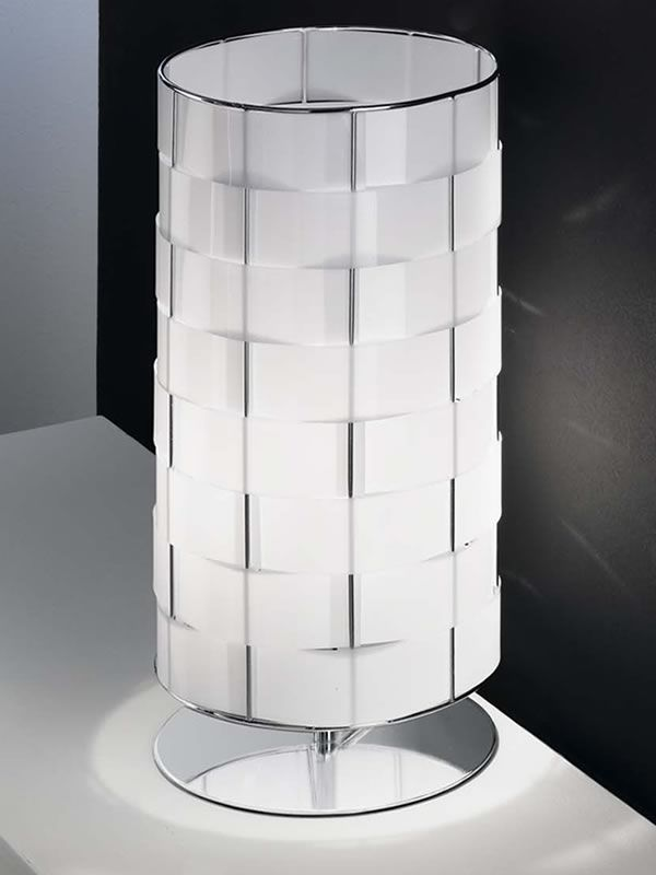 Fa3136dt lampada moderna da tavolo in policarbonato e metallo sediarreda - Lampada da tavolo moderna ...