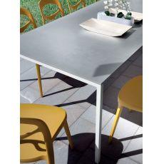 Mirage - Tavolo da giardino Domitalia in acciaio e alluminio, 240 x 95 cm