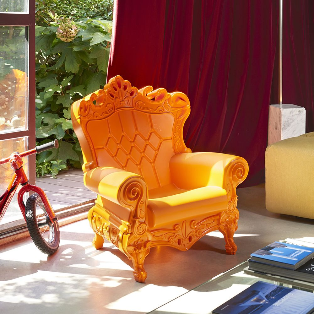 little queen of love slide polyethylene armchair different  - little queen of love  polyethylene design armchair different coloursavailable