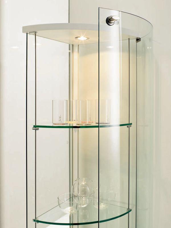 parella 6429 eckvitrine tonin casa aus holz und glas in. Black Bedroom Furniture Sets. Home Design Ideas