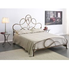 Artemisia - Double bed in wrought-iron, several colours available