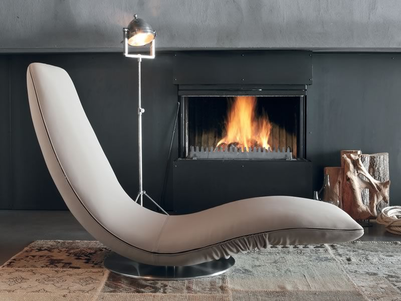 Ricciolo 7865   Armchair Chaise Longue Covered With Leather, Imitation  Leather Or Fabric ...