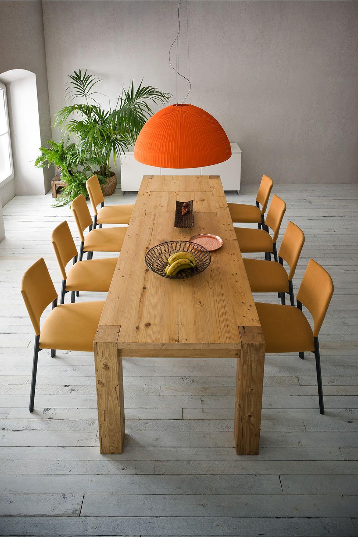 Arcadio Table moderne en bois, fixe ou à rallonge, disponible en différentes