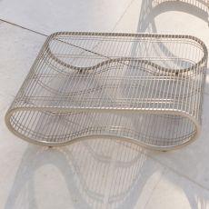 Breez - T - Table basse design en métal, en différentes couleurs, pour jardin