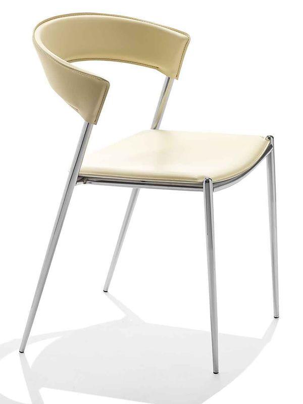 Imola chaise midj en m tal et cuir en diff rentes - Chaise metal et cuir ...