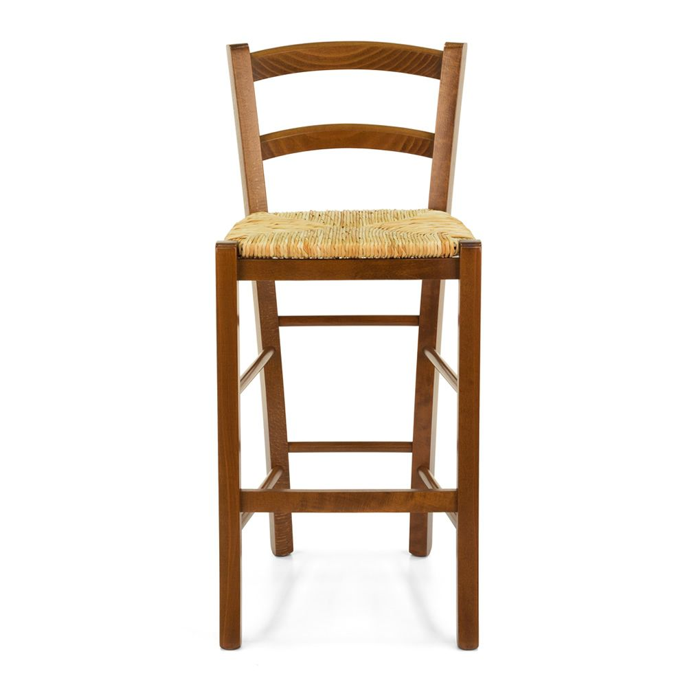 199 B Country Style High Stool In Wood For Bar And