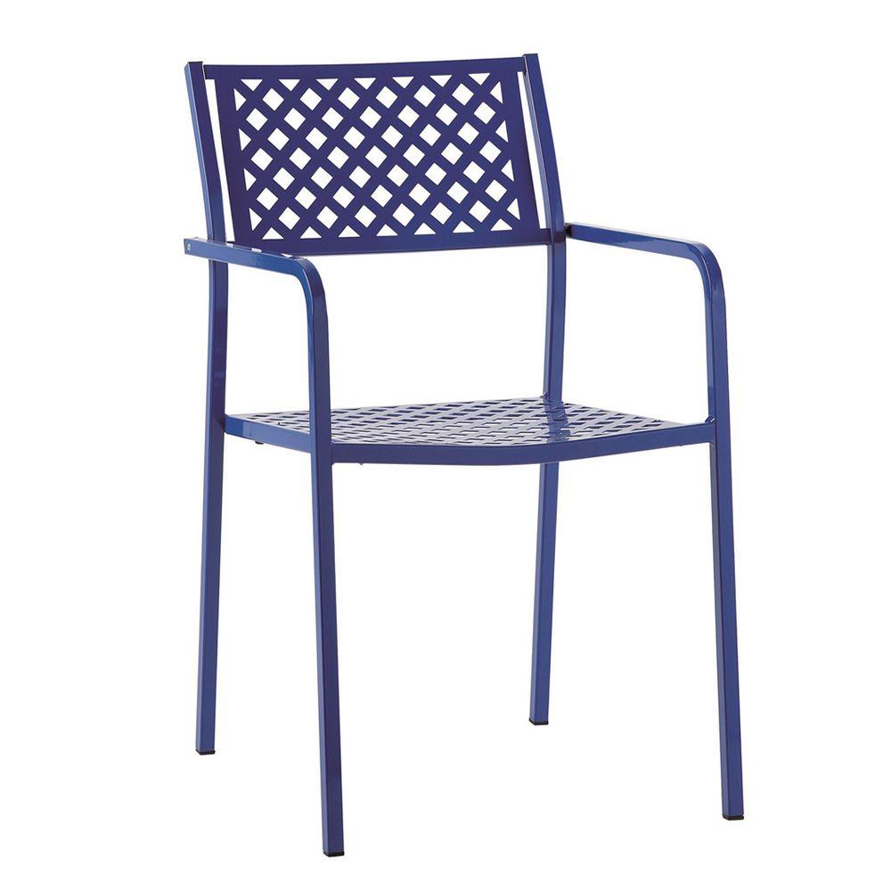 Rig17p silla m talica con reposabrazos apilable para for Sillas con reposabrazos