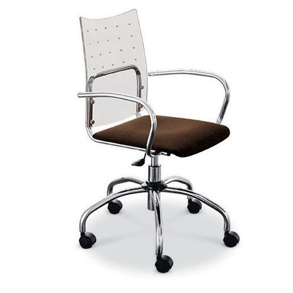 Sinu sedia girevole e regolabile midj in metallo for Sedia ufficio trasparente