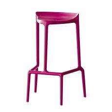Happy 490 - Sgabello Pedrali in polipropilene, per esterno, impilabile, altezza seduta 75 cm, disponibile in diversi colori