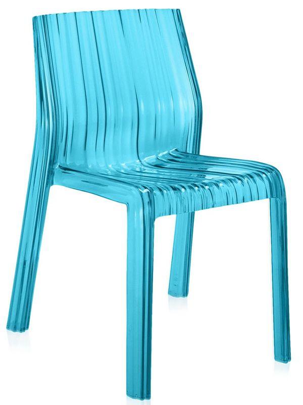 Frilly chaise kartell de design en polycarbonate empilable pour ext rieur - Chaise transparente couleur ...