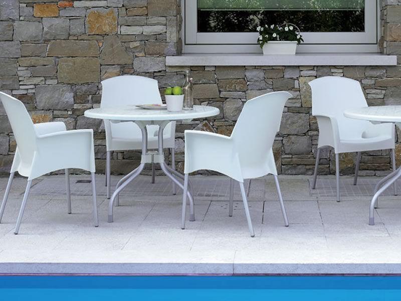 Ribalto top 188 per bar e ristoranti tavolo per esterno for Tavolo esterno 80x80