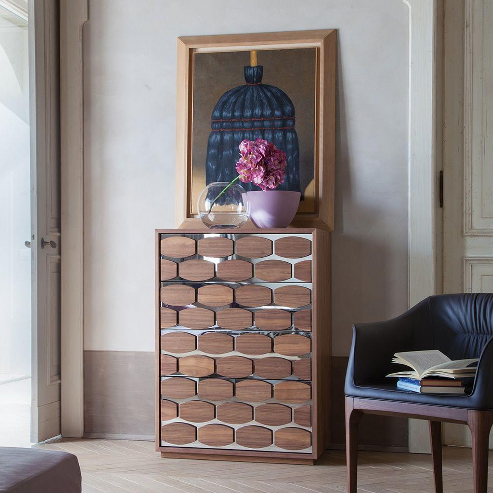 honey night 6118 hohe kommode tonin casa aus holz 74 x. Black Bedroom Furniture Sets. Home Design Ideas