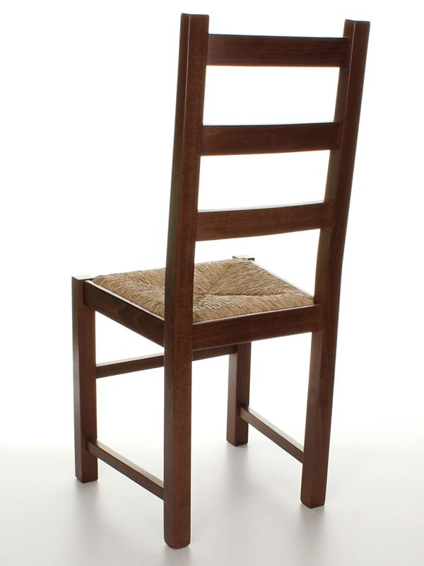 Mu82 chaise rustique en bois disponible en diff rentes for Chaise en paille