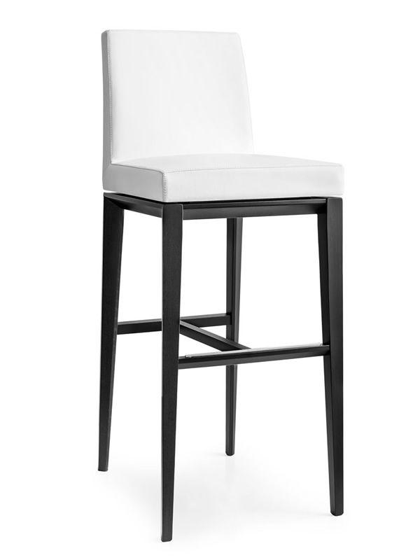 cs1445 gu bess hocker calligaris aus holz sitz mit kunstleder bezogen sitzh he 65 oder 80 cm. Black Bedroom Furniture Sets. Home Design Ideas