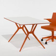 Spoon Table - Tavolo pieghevole Kartell, in polipropilene con piano in alluminio laminato, disponibile in diversi colori e dimensioni