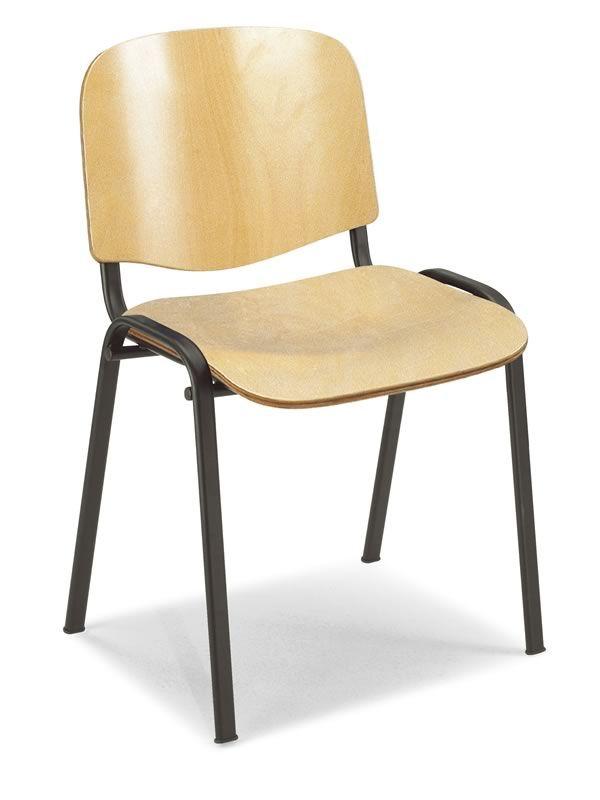 Ml100l sedia da attesa con seduta e schienale in legno for Sedia per sala d attesa