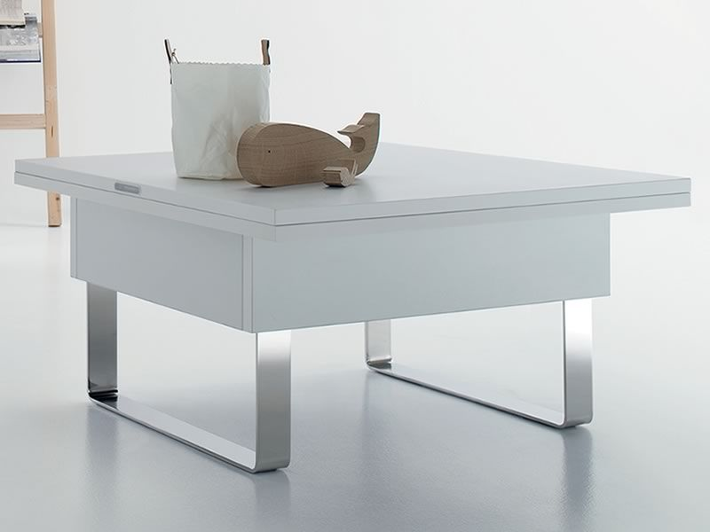 Giove mesita de centro transformable en mesa de comedor for Silla que se convierte en mesa