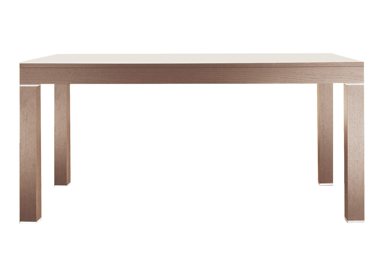 linea verl ngerbarer tisch colico design aus holz mit glasplatte rechteckig 160 250 x85 cm. Black Bedroom Furniture Sets. Home Design Ideas