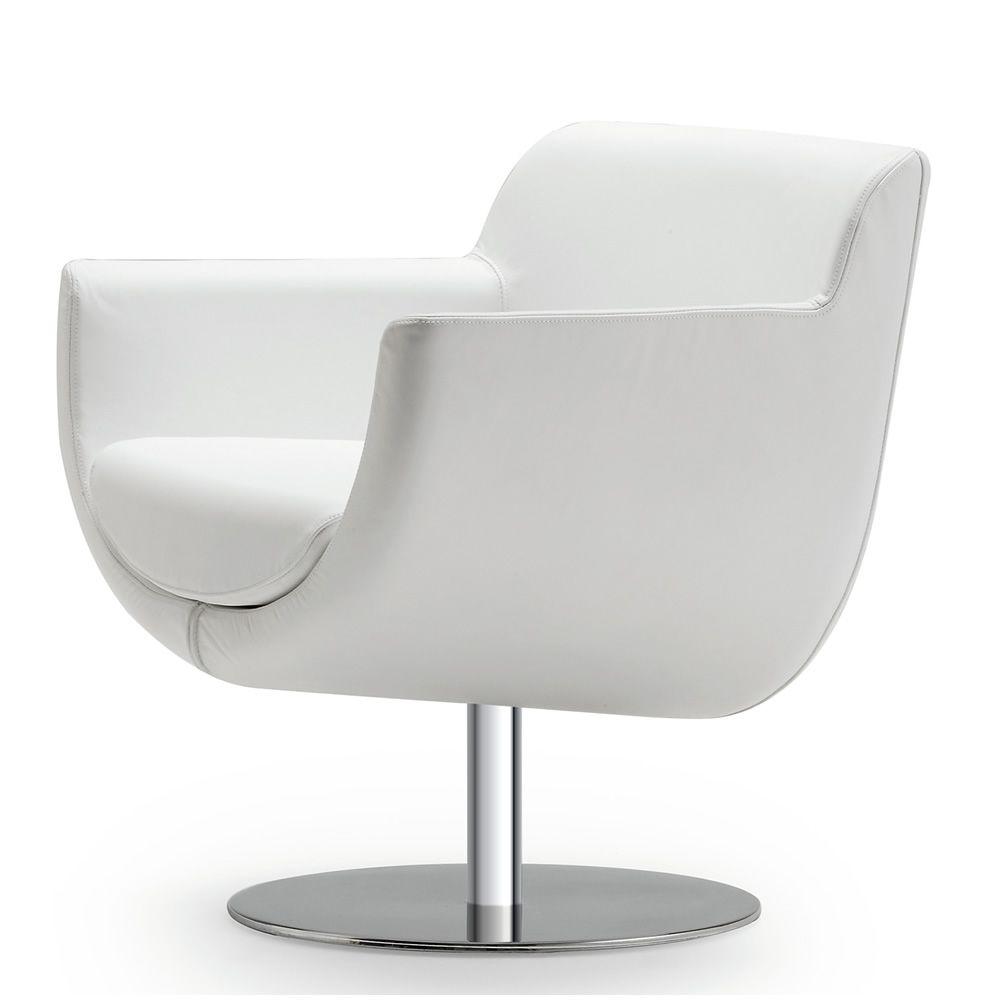 Sphere poltrona design di tonon girevole in pelle o for Poltrona girevole design