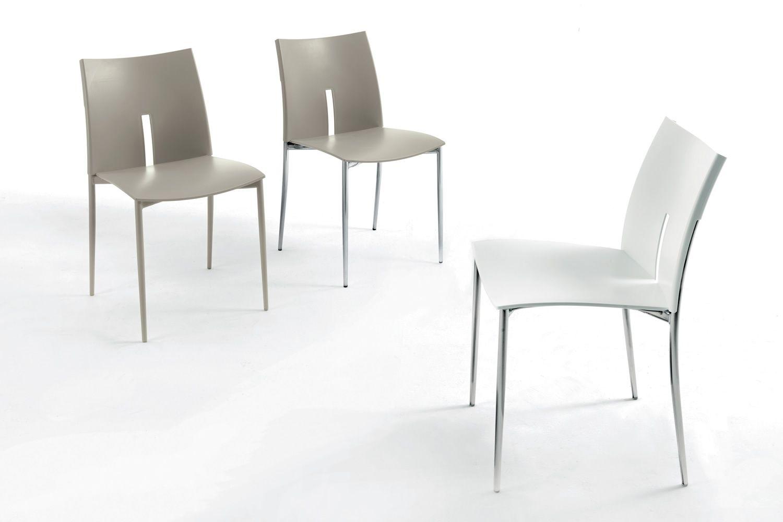 Las vegas sedia moderna impilabile in metallo e