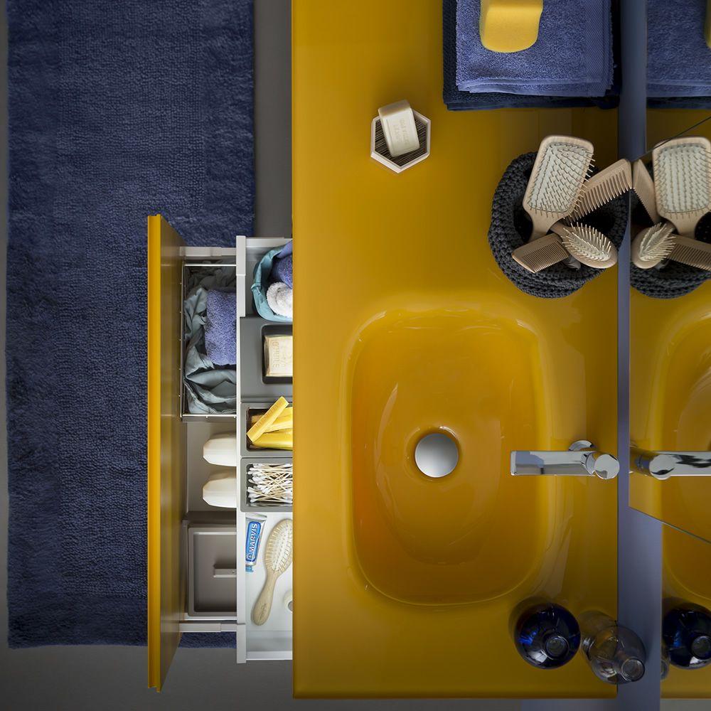 Memento C Mueble De Ba O Con Encimera De Cristal 2 Caj Nes  # Muebles Memento