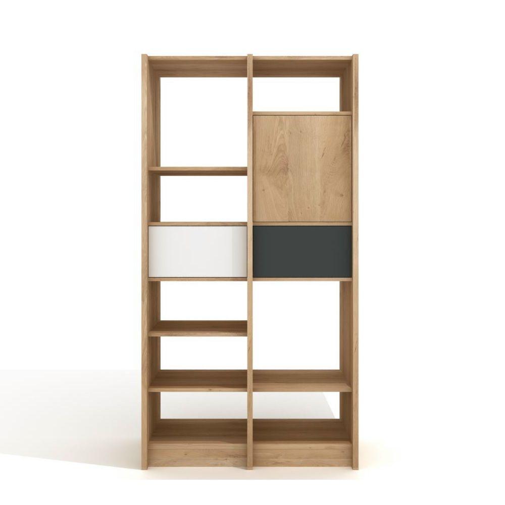 domino b cherregal universo positivo aus holz mit elementen aus lackiertem metall sediarreda. Black Bedroom Furniture Sets. Home Design Ideas