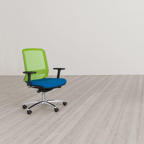 Bali silla operativa para oficina con respaldo en red y for Silla oficina baquet